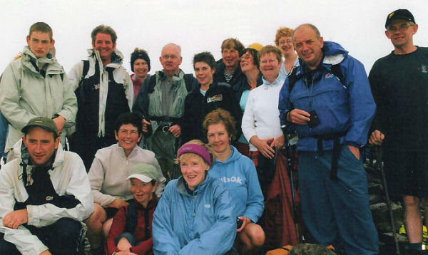 Bob Noonan and the Galtee Walking Club meet Claire O'Leary and Pat Falvey on Carrauntoohil.
